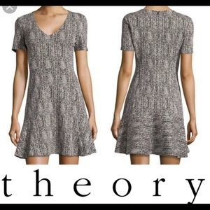 THEORY NIKAY PARSEL HERRINGBONE DRESS